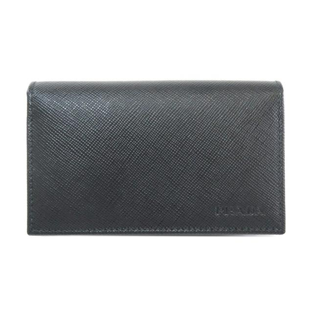 Item - Black 2m1122 Card Case Leather Men's Wallet