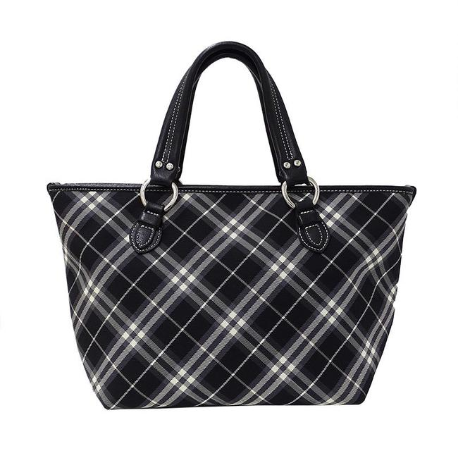 Item - Tote Bag Handbag Check Black Nylon Canvas