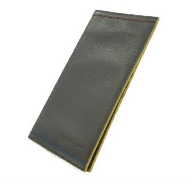 Item - Black / Multi-color Leather Bi-fold Wallet