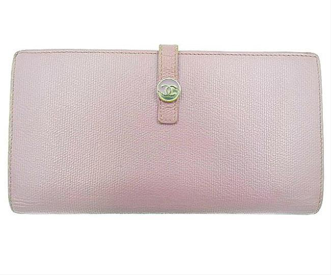 Item - Pink Long Coco Button Hook Wallet