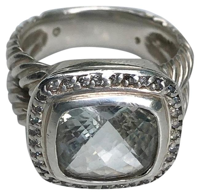 Item - Silver Green Albion with Prasiolite and Diamonds 11mm Ring