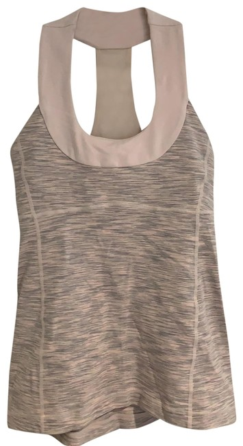 Item - Light Pink Gray White Racer Back Activewear Top Size 2 (XS)