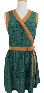 Dear Creatures short dress Green Vintage Inspired Bow Pattern on Tradesy