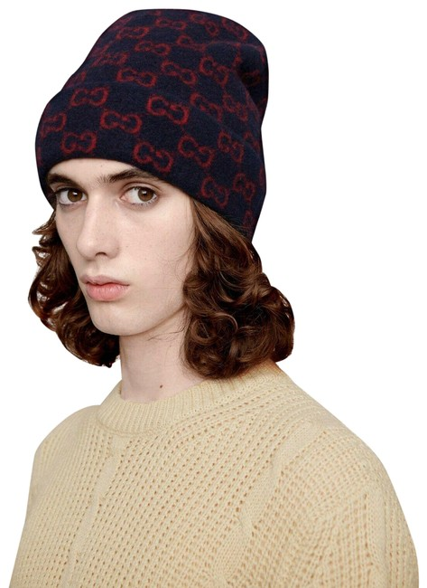 Item - Blue/Red L Blue/Red Monogram Gg Tricot Wool Beanie L/59 597640 4074 Hat
