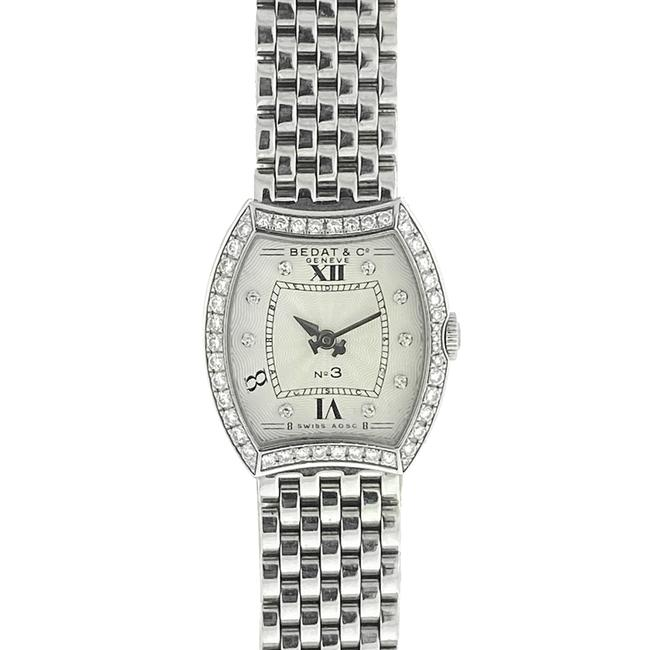 Item - Silver No 3 Diamond Bezel and Dial Stainless Steel Ladies Watch