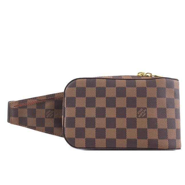 Item - Géronimos Bum bag #41954 Rare Geronimos Waist Fanny Pack Brown Damier Ébène Canvas Baguette