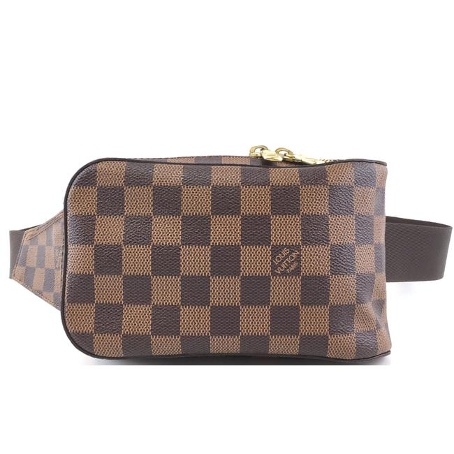 Item - Géronimos Bum bag #41955 Rare Geronimos Waist Fanny Pack Brown Damier Ébène Canvas Baguette
