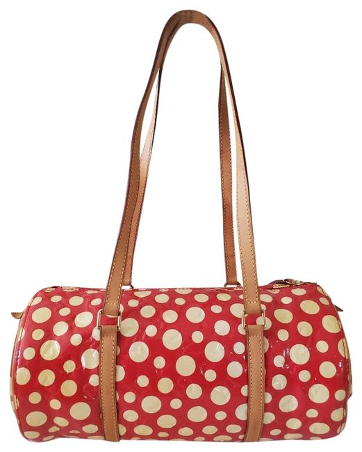 Item - Papillon Kusama Infinity Dots Red Leather Tote