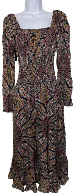 Item - Multicolor New Paisley Smocking Msrp Long Formal Dress Size 4 (S)