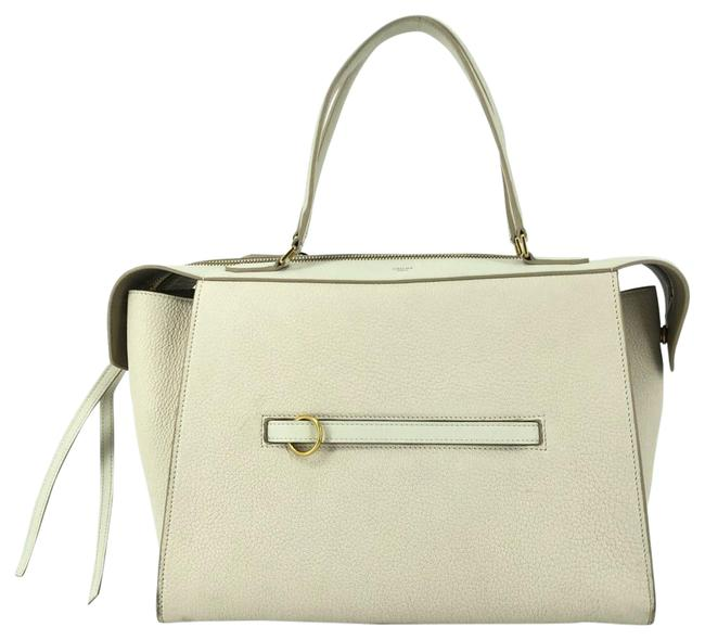 Item - Ring Off Small #34769 White Leather Satchel