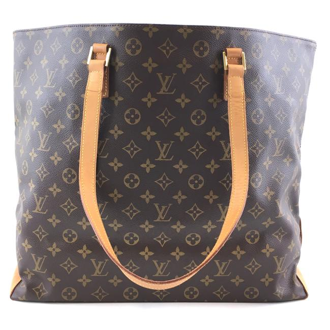 Item - Cabas Alto XL #41969 Rare and Discontinued Large Neverfull-style Brown Monogram Canvas Tote