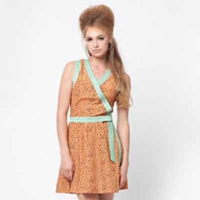 Dear Creatures short dress Salmon Vintage Inspired Lightweight Summer Bow on Tradesy