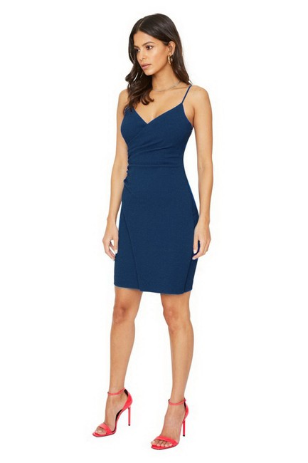Item - Navy Blue Esthero Sheath Short Night Out Dress Size 2 (XS)