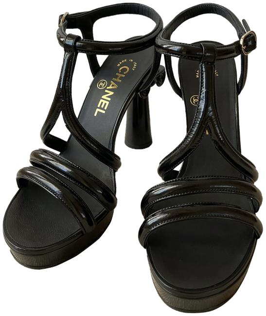 Item - Black Runway Cruise 2018 Column T-strap Sandals Size EU 37 (Approx. US 7) Regular (M, B)