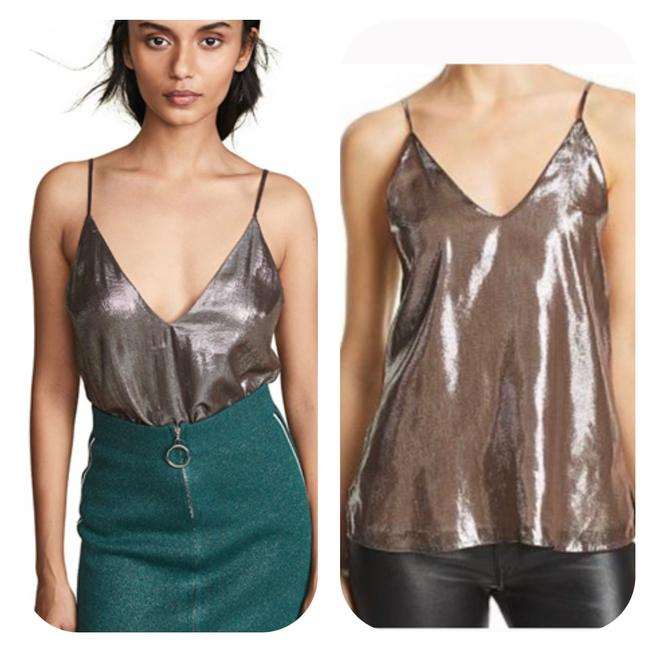 Item - Pewter Olivia Lame Camisole Tank Top/Cami Size 12 (L)
