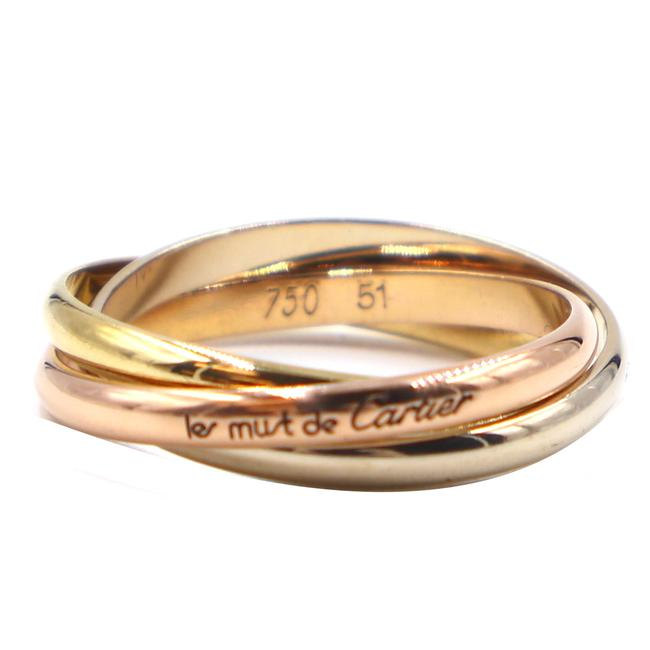 Item - #41865 Tricolor 18k Trinity White Gold Yellow Rose Pink Gold Size 51 5.75 - 6 Ring