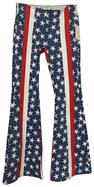 Item - Red Whie Blue Coated Flare Leg Jeans Size 4 (S, 27)