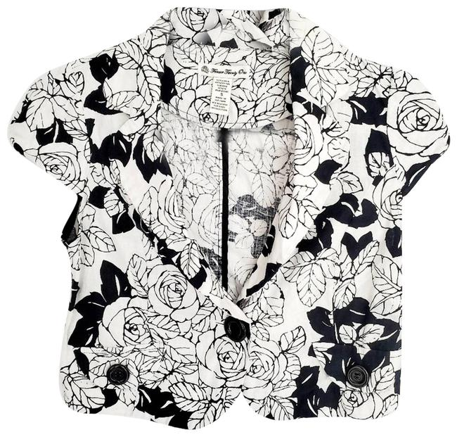 Item - White F21 Cropped Floral Button Collar Blazer Size 4 (S)