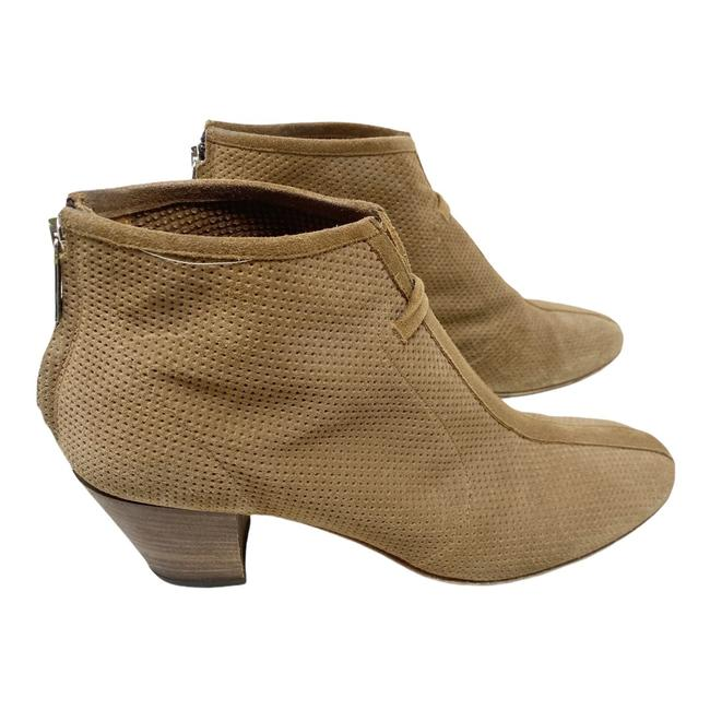 Item - Tan Xcellent Perforated Suede Ankle Boots/Booties Size US 9.5 Regular (M, B)