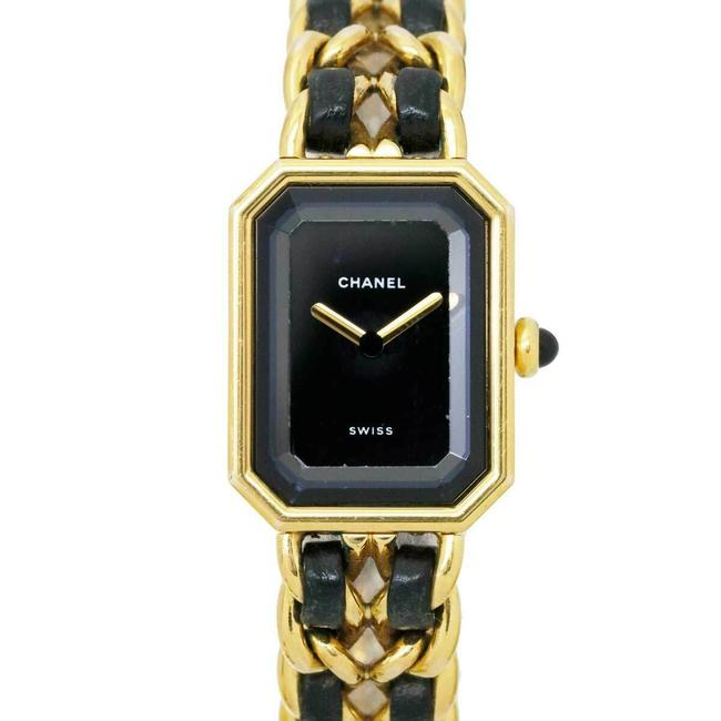 Item - Black/Gold Stainless Steel/Yellow Plated Premiere Watch