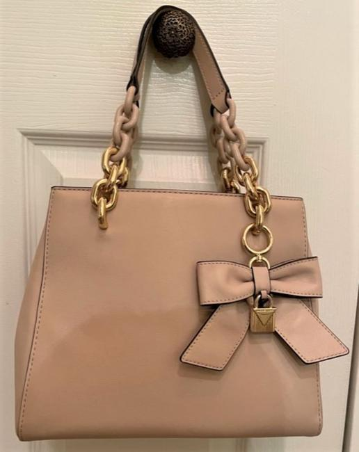Item - With Bow Blush Pink Leather Satchel