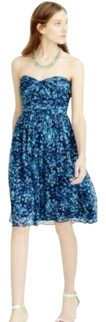 Item - Royal Shadow Marbella Watercolor Silk Mid-length Cocktail Dress Size 4 (S)