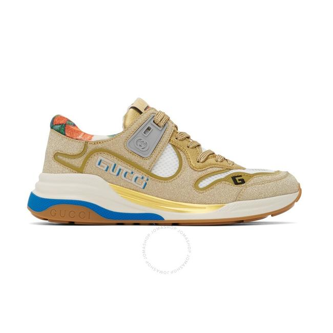 Item - Gold Metallic and Silver Ultrapace Glitter-effect Sneakers Size EU 34 (Approx. US 4) Regular (M, B)