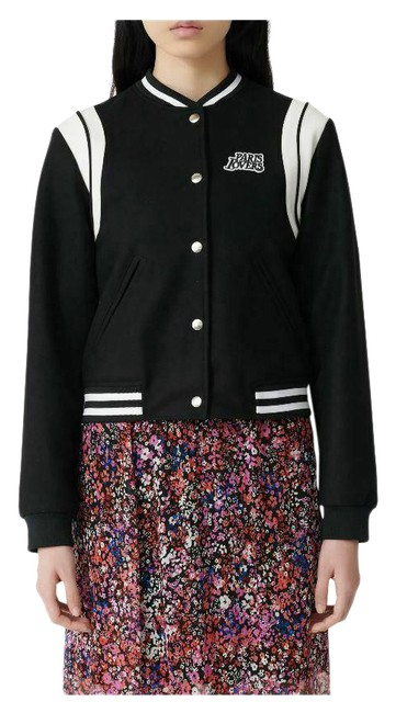 Item - Black Women's Berry Varsity Paris Lovers Jacket Size 4 (S)