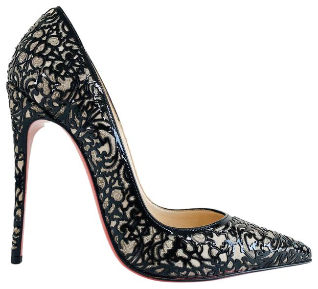 Item - Black So Pretty Glitter Laser-cut Patent Leather Pumps Size EU 36 (Approx. US 6) Regular (M, B)