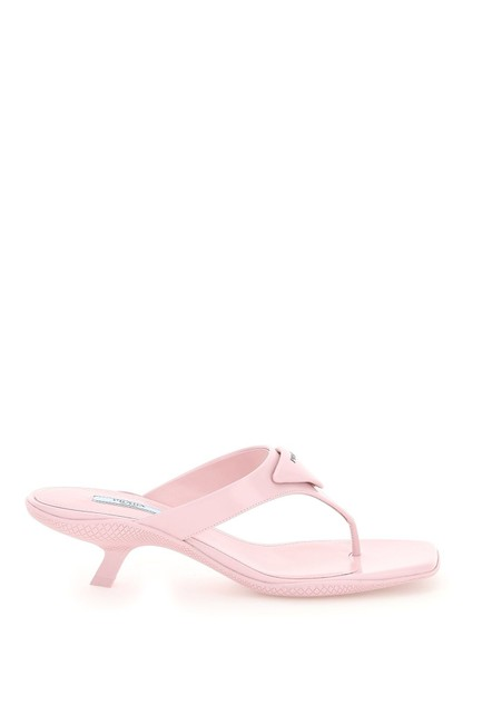 Item - Pink Thong with Logo Mules/Slides Size EU 39 (Approx. US 9) Regular (M, B)