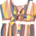 Madewell Pink Tie Front Cutout Sherbet Stripe Blue Pastel Short Casual Dress Size 4 (S) Madewell Pink Tie Front Cutout Sherbet Stripe Blue Pastel Short Casual Dress Size 4 (S) Image 5