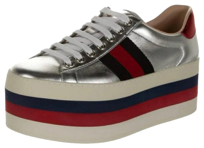 Item - Silver Peggy Low Top Sneakers Size US 8.5 Regular (M, B)