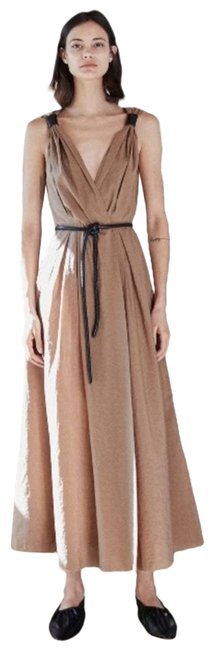 Item - Brown Lilith Sleeveless In Nut Casual Maxi Dress Size 4 (S)