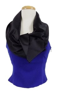 Emporio Armani Vintage Cowl Neck Fancy Top Royal Blue/Black