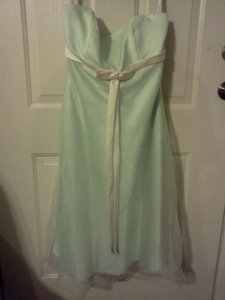 Alfred Angelo Green/Yellow R.n. #24766 Formal Bridesmaid/Mob Dress Size 14 (L)