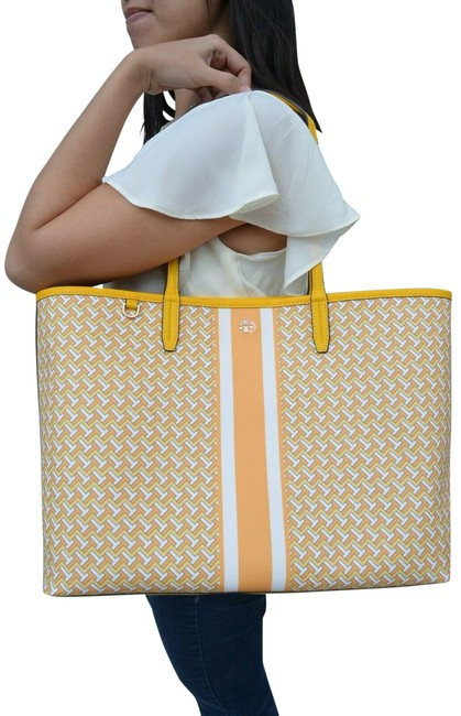 Item - T Tzag All Over Yellow Coated Canvas Tote