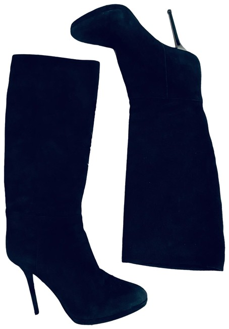 Item - Black Suede Stiletto Boots Platforms Size EU 38.5 (Approx. US 8.5) Regular (M, B)