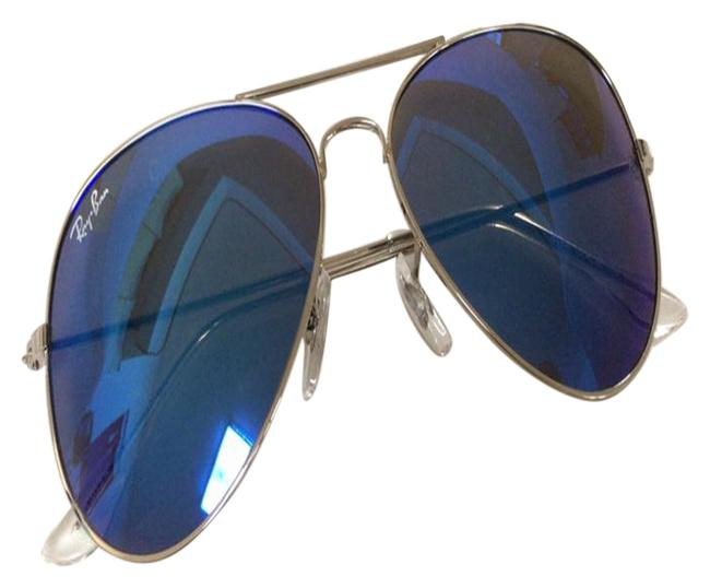 Item - Blue Women Aviator Rb3025 58mm Sunglasses