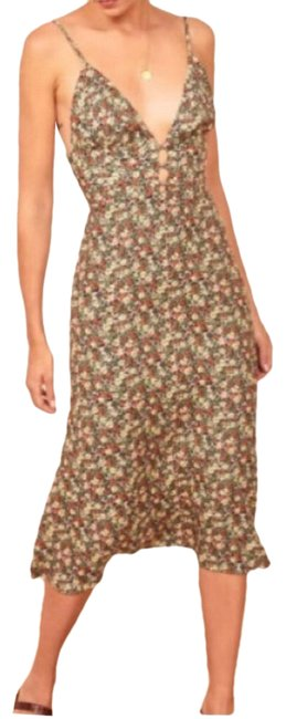 Item - Red and Cream Montauge Mid-length Casual Maxi Dress Size 8 (M)