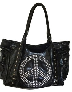 Other Peace Sign Vintage Collectable Tote in Black