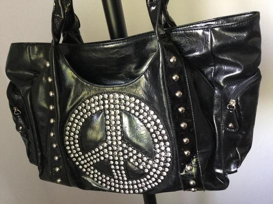 Other Peace Sign Purse Vintage Collectable Tote in Black
