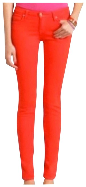 Item - Red Broome Street Coral Skinny Jeans Size 24 (0, XS)
