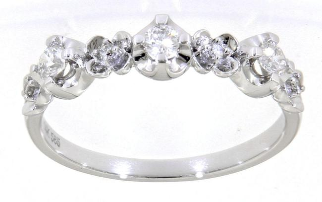Item - White Gold Floral Women's Wedding Band