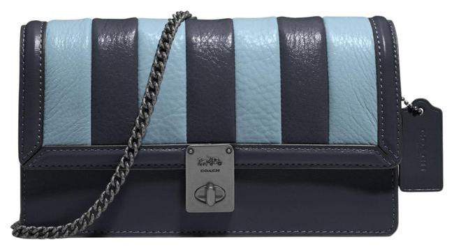 Item - Clutch 856 Hutton with Colorblock Quilting Midnight Navy Multi Leather Shoulder Bag