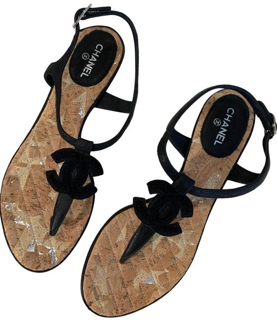 Item - Black Entre Doigts Sandals Size EU 38.5 (Approx. US 8.5) Regular (M, B)