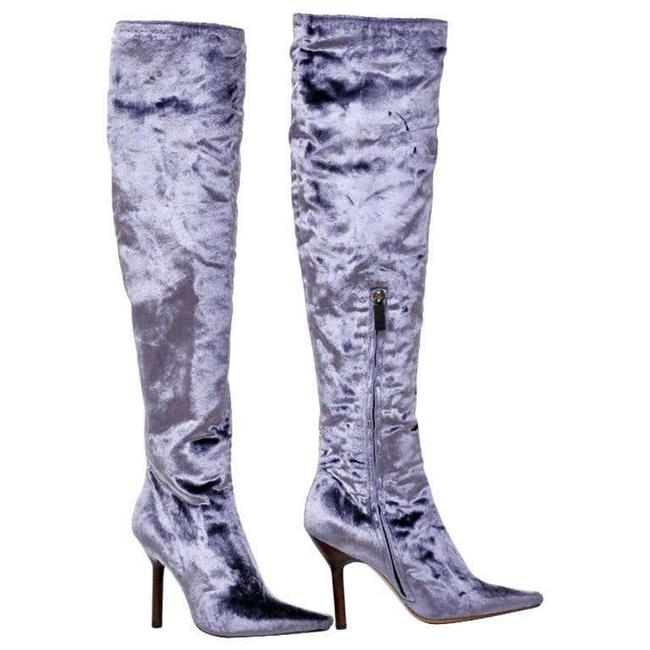 Item - Lilac W F/W 1999 Vintage Tom Ford For Velvet Over The Knee New Boots/Booties Size US 7 Narrow (Aa, N)