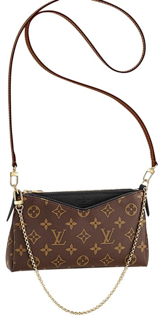 Item - Pallas Clutch Brown/Black Coated Canvas Cross Body Bag