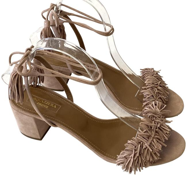 Item - Nude Wild Thing Fringe Suede Heels Sandals Size EU 40.5 (Approx. US 10.5) Regular (M, B)