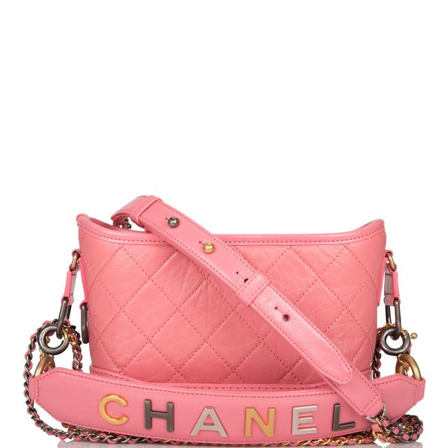 Chanel Gabrielle Hobo Quilted 20 Mixed Metal Hardware Pink Lambskin Leather Shoulder Bag Chanel Gabrielle Hobo Quilted 20 Mixed Metal Hardware Pink Lambskin Leather Shoulder Bag Image 1