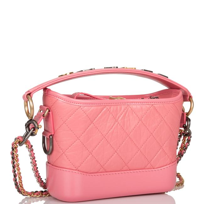 Chanel Gabrielle Hobo Quilted 20 Mixed Metal Hardware Pink Lambskin Leather Shoulder Bag Chanel Gabrielle Hobo Quilted 20 Mixed Metal Hardware Pink Lambskin Leather Shoulder Bag Image 2